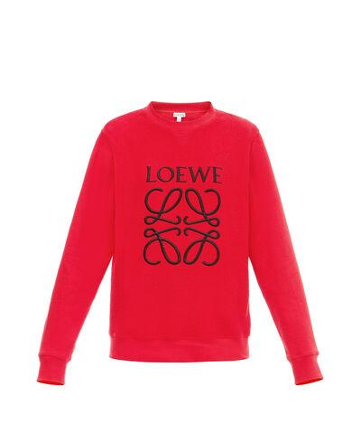 LOEWE Anagram Sweatshirt Red front