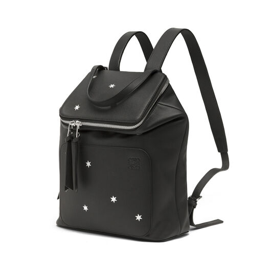 LOEWE Goya Stars Small Backpack Black/Silver all