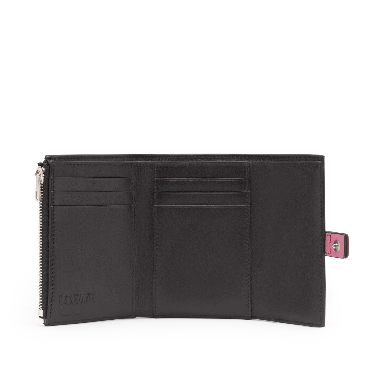 LOEWE Small Vertical Wallet Wild Rose/Raspberry front