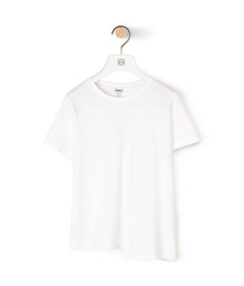 LOEWE アシンメトリック アナグラム Tシャツ ホワイト front