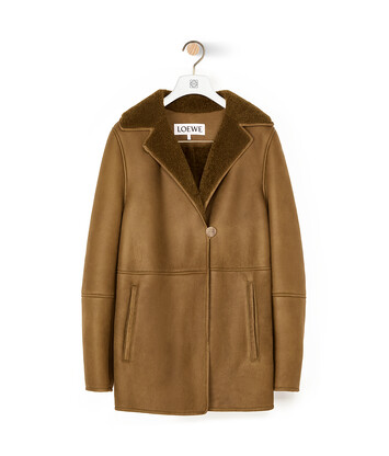 LOEWE Shearling Jacket カーキグリーン front