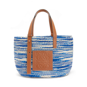 LOEWE Paula's Basket Small Bag Blue/Tan front