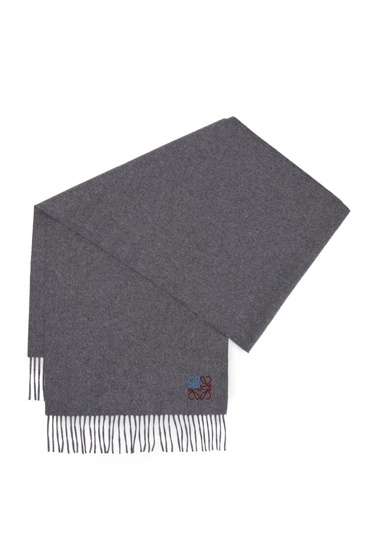 LOEWE Anagram scarf in cashmere Grey pdp_rd