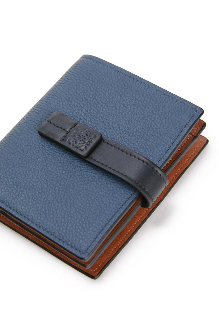 LOEWE Compact zip wallet in soft grained calfskin Indigo Dye/Black pdp_rd