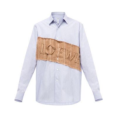 LOEWE Loewe Patch Shirt White/Blue front