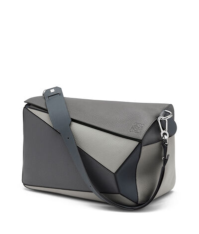 LOEWE Puzzle Xl Bag Grey Multitone front