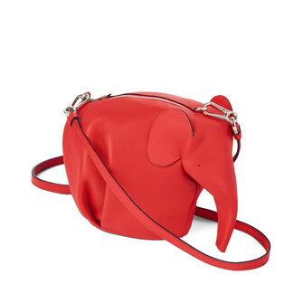 LOEWE Elephant Mini Bag 猩红色 front
