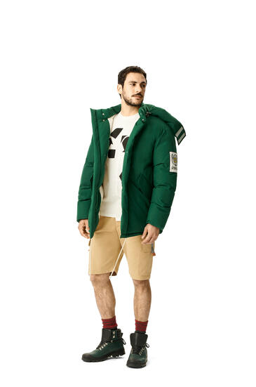 LOEWE Puff parka in cotton Forest Green pdp_rd