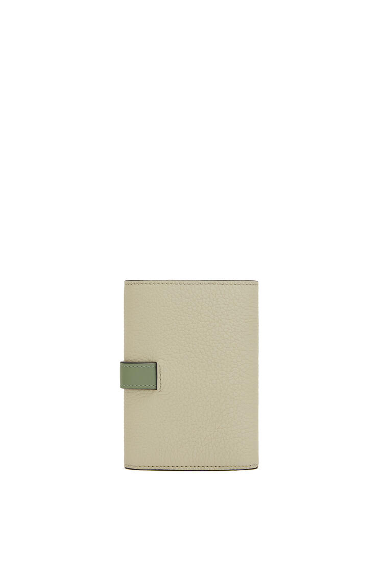 LOEWE Small vertical wallet in soft grained calfskin Sage/Pale Green pdp_rd