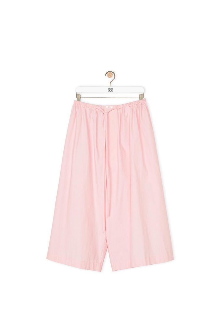 LOEWE Drawstring shorts in cotton Baby Pink pdp_rd