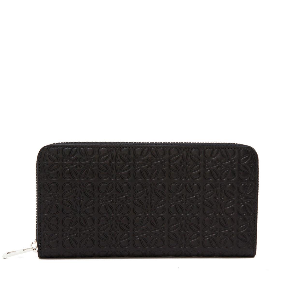 LOEWE Repeat Zip Around Wallet Black front