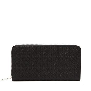 LOEWE Repeat Zip Around Wallet 黑色 front
