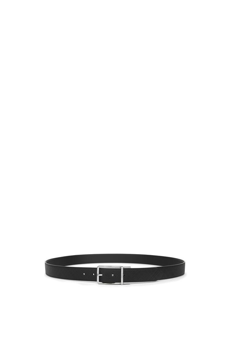 LOEWE フォーマル ベルト(テクスチャードカーフスキン) ブラック/パラジウム pdp_rd