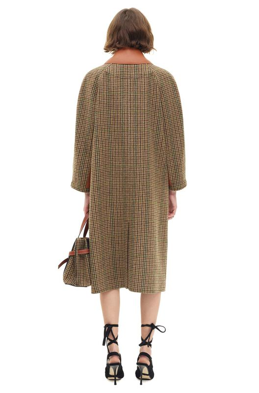 LOEWE Pied De Poule Carcoat Marron all
