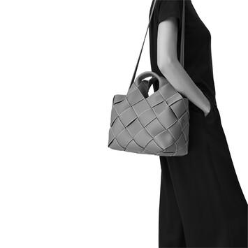 LOEWE Woven Basket Bag Black/Tan front
