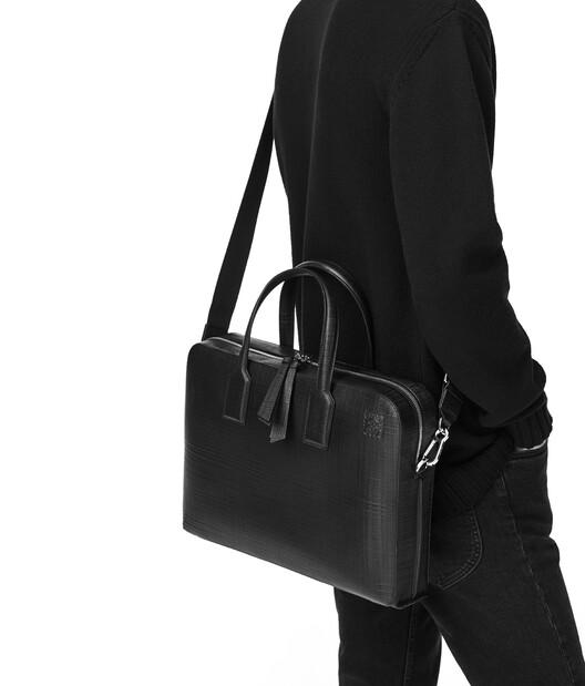 LOEWE Goya Thin Briefcase 黑色 front