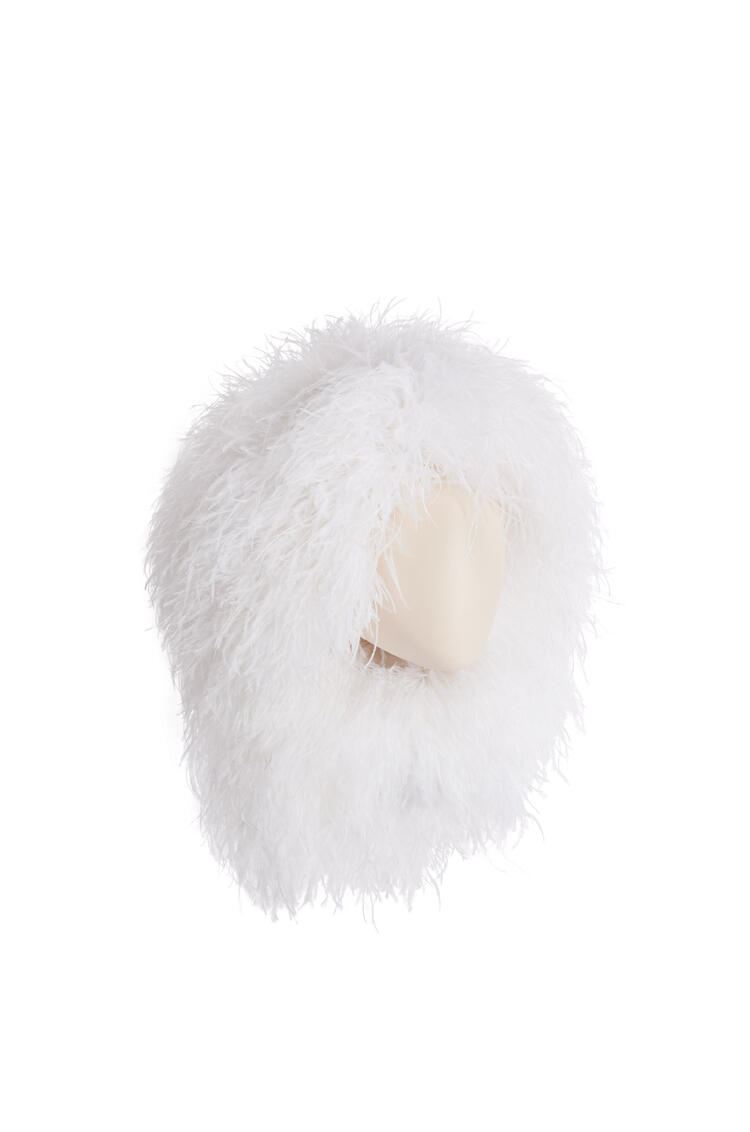 LOEWE Wig hat in feathers Soft White pdp_rd