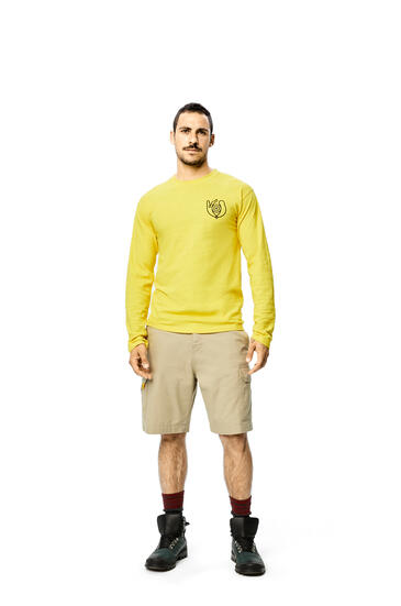 LOEWE Long Sleeve T-shirt In Cotton Bright Yellow pdp_rd