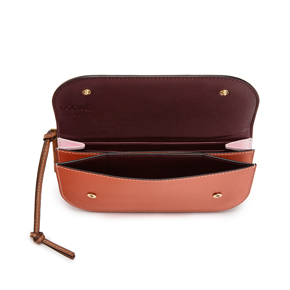 LOEWE Billetero Continental Gate Rosa Suave/Coral front