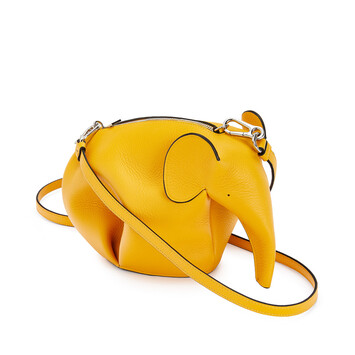 LOEWE Elephant Mini Bag Yellow Mango front