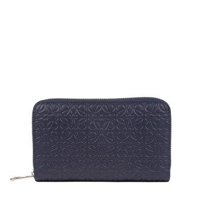 LOEWE Medium Zip Around Wallet Navy Blue front