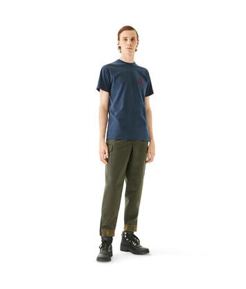LOEWE Anagram T-Shirt ネイビーブルー front