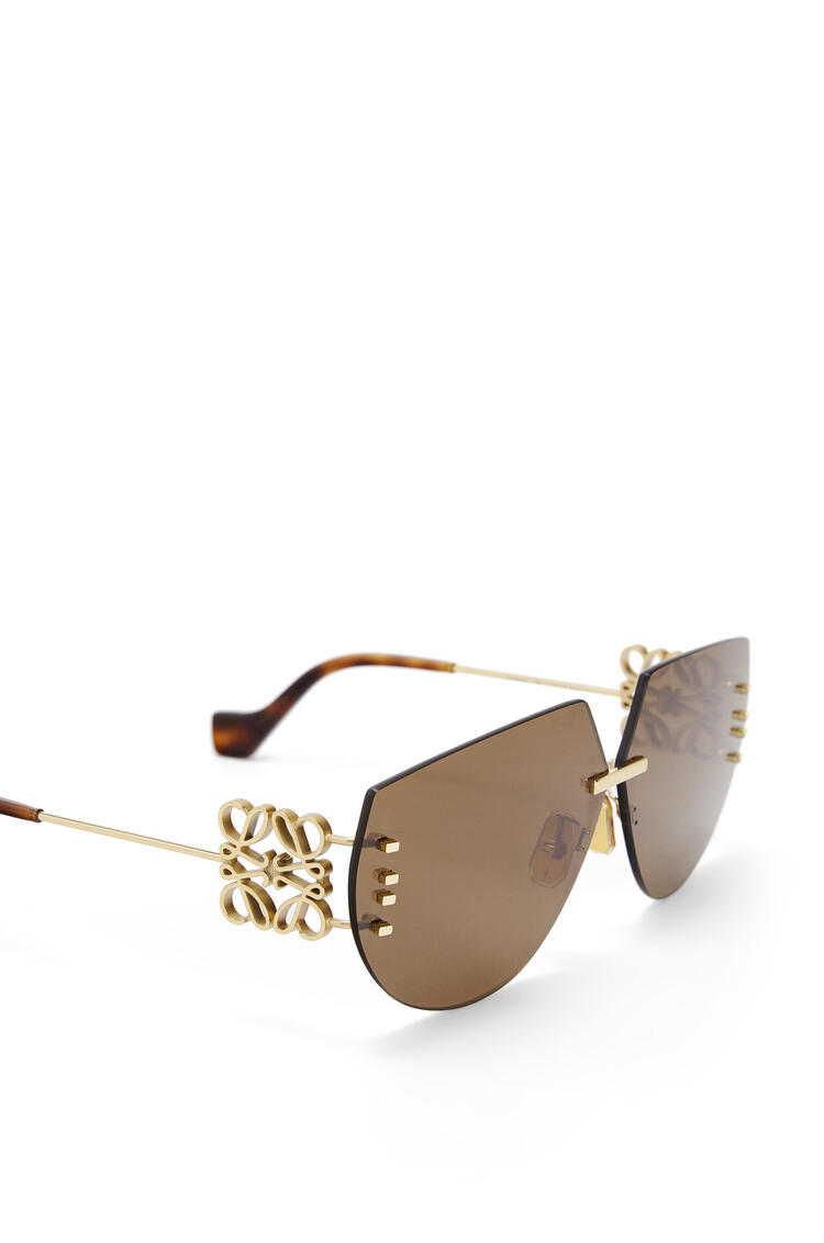LOEWE RIMLESS MASK ANAGRAM Marron/Oro pdp_rd