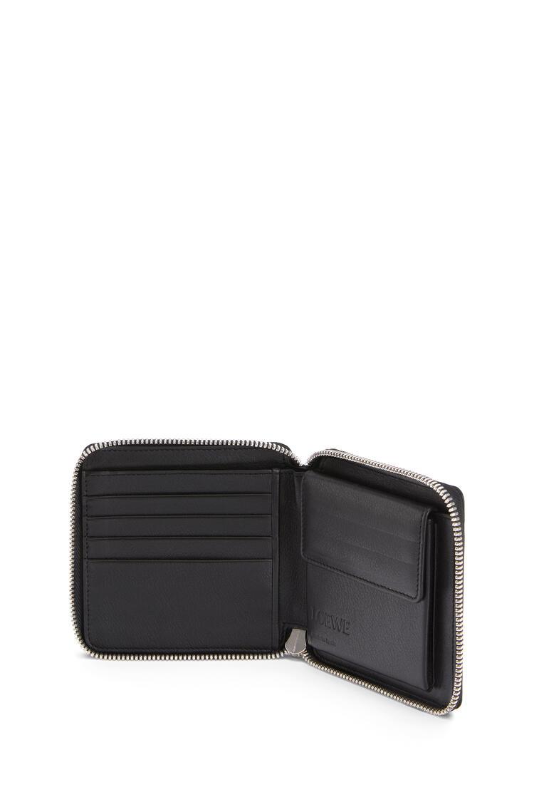 LOEWE Puzzle square zip wallet in classic calfskin Dark Lagoon/Black pdp_rd