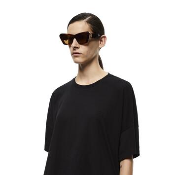 LOEWE Acetate Cateye Sunglasses 雪茄色 front