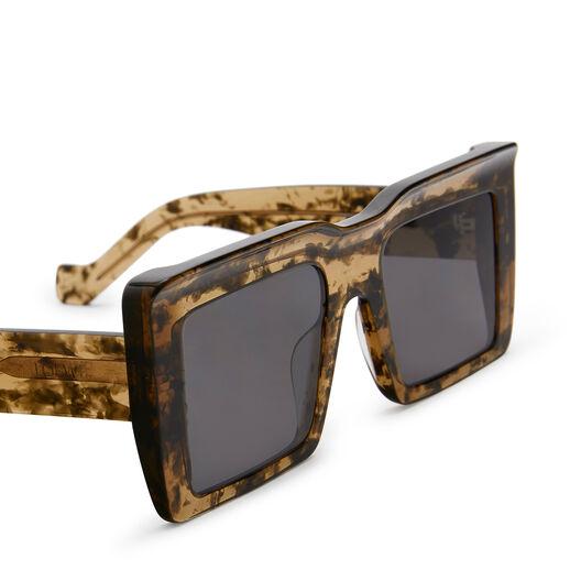 LOEWE Oversize Square Sunglasses カーキグリーン front