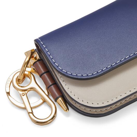 LOEWE Gate Mini Wallet Marine/Light Oat front