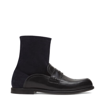 LOEWE Sock Boot Black/Navy Blue front