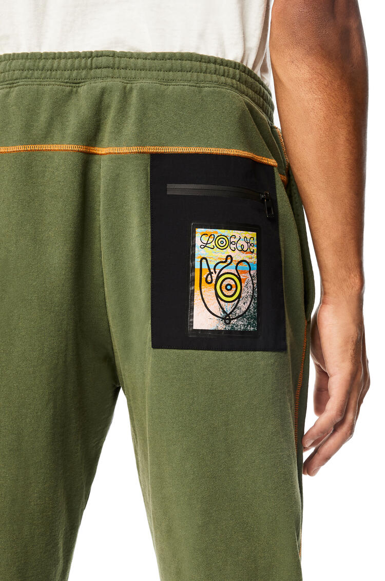 LOEWE Fleece trousers in cotton Khaki Green pdp_rd