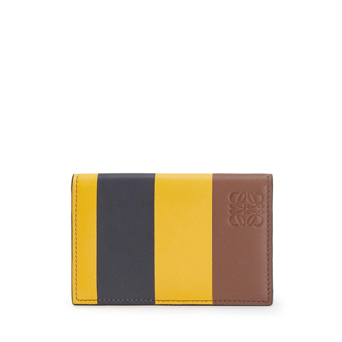LOEWE Stripes Business Cardholder Yellow Mango/Marine front