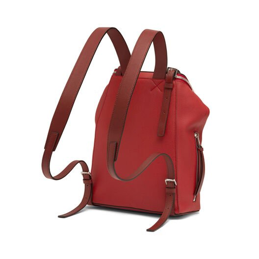 LOEWE ゴヤスモールバックパック Scarlet Red/Burnt Red all