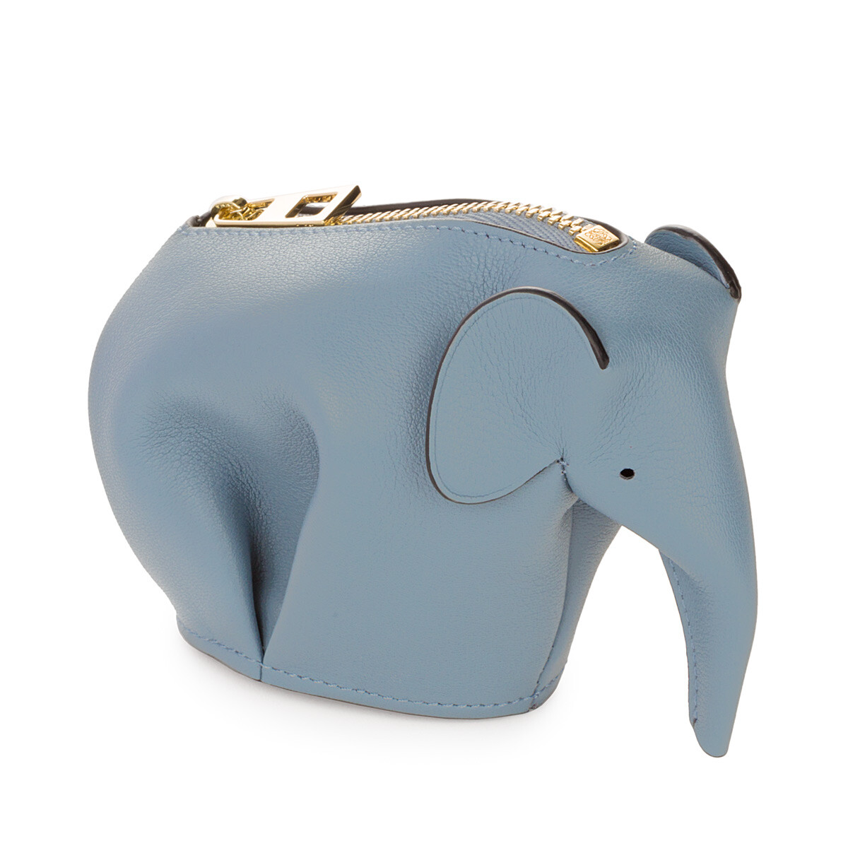 LOEWE Elephant Coin Purse Stone Blue front