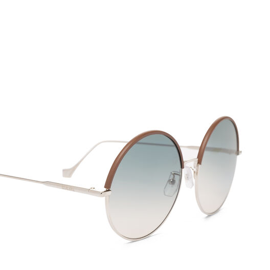 LOEWE Round Sunglasses Brown/Gradient Sand all