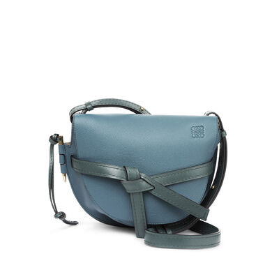 LOEWE Gate Small Bag Petroleum Blue/Cypress front