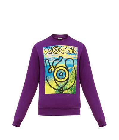 LOEWE Sweatshirt Loewe Eye Purple front