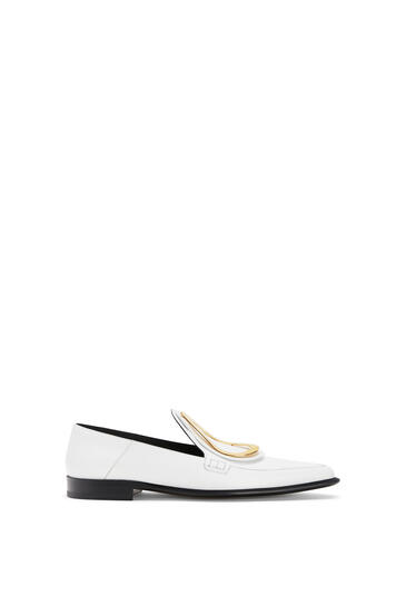 LOEWE Drop Pointy Loafer In Calfskin White pdp_rd
