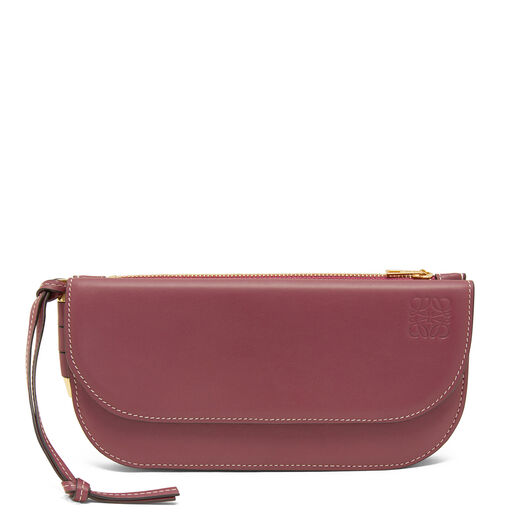 LOEWE Gate Continental Wallet Wine/Oxblood all