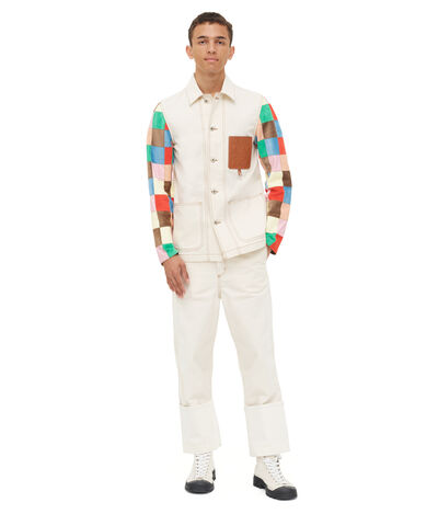 LOEWE Workwear Jacket Patchwork Multicolor front
