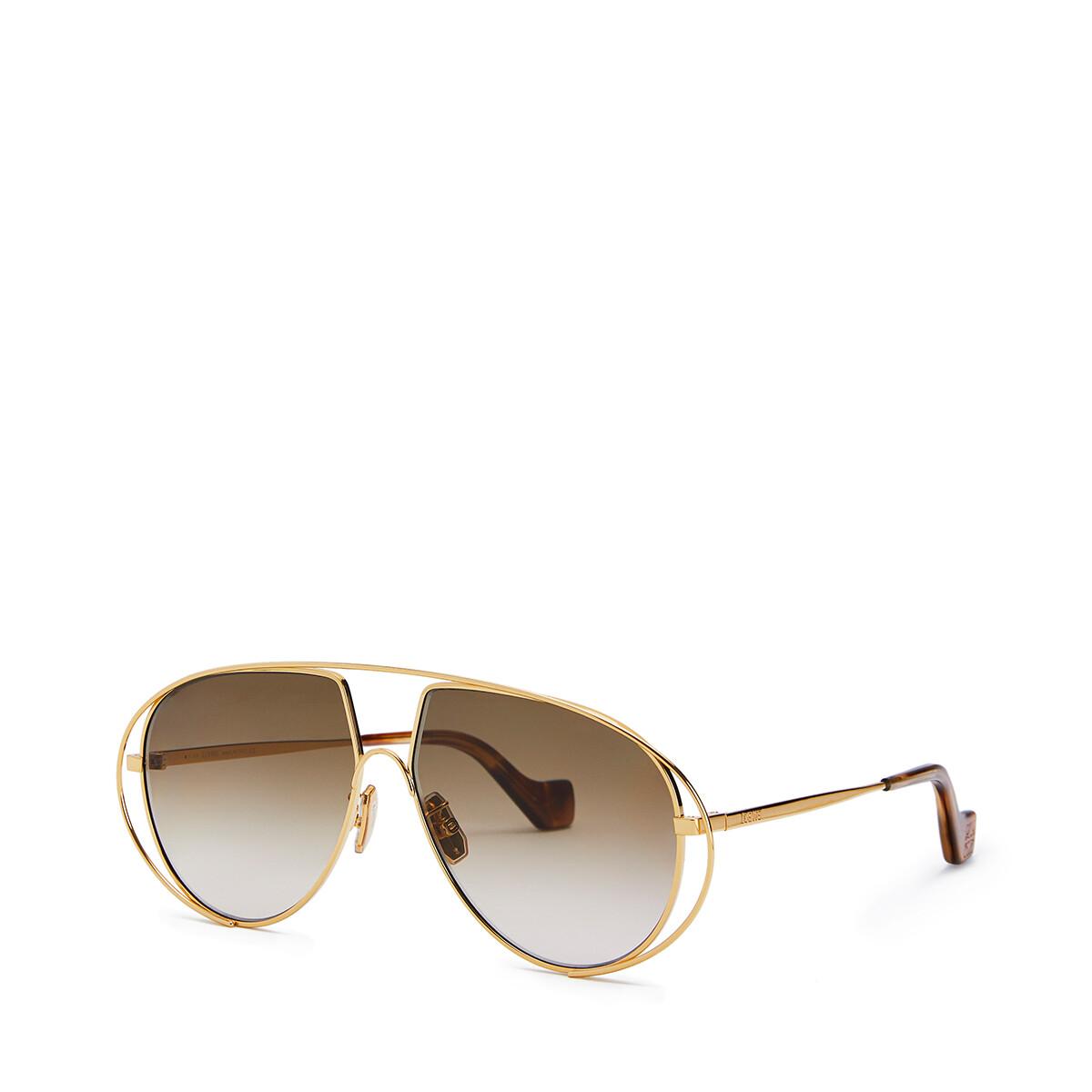 LOEWE Metal Pilot Sunglasses Sand front
