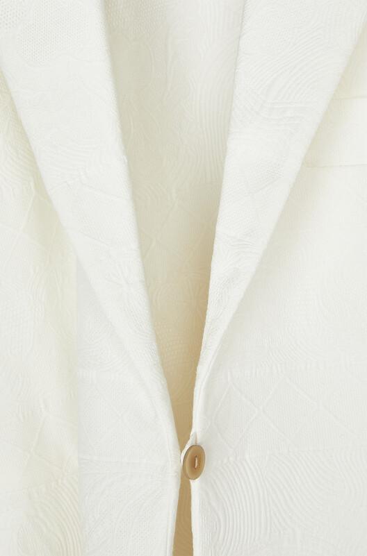 LOEWE Tie Cut Panel Coat Jacquard 白 front