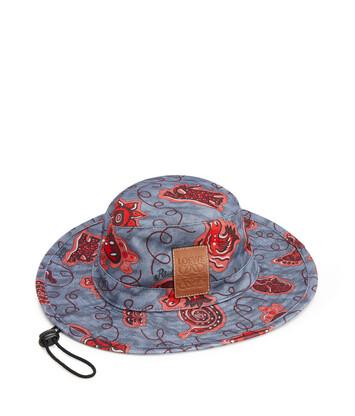 LOEWE Paula Bucket Hat Blue/Red front