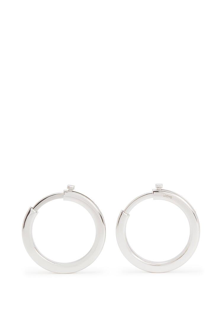 LOEWE Metallic rings for strap in metal Palladium pdp_rd