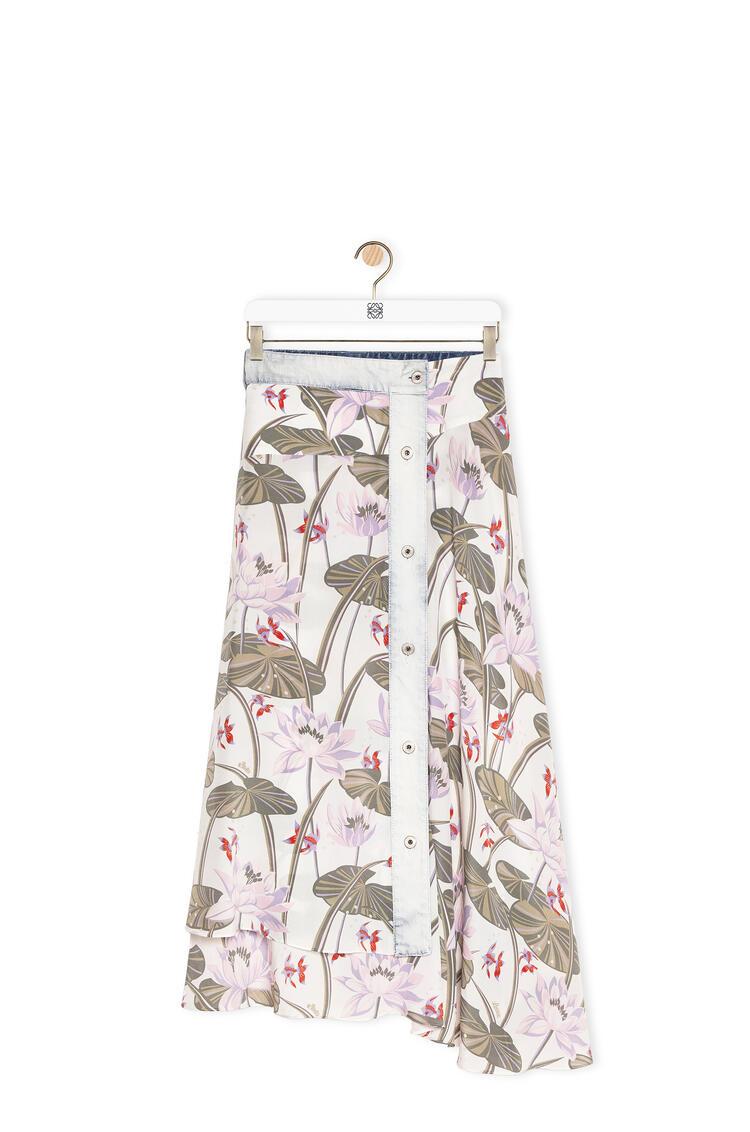 LOEWE Skirt in waterlily silk Light Blue pdp_rd