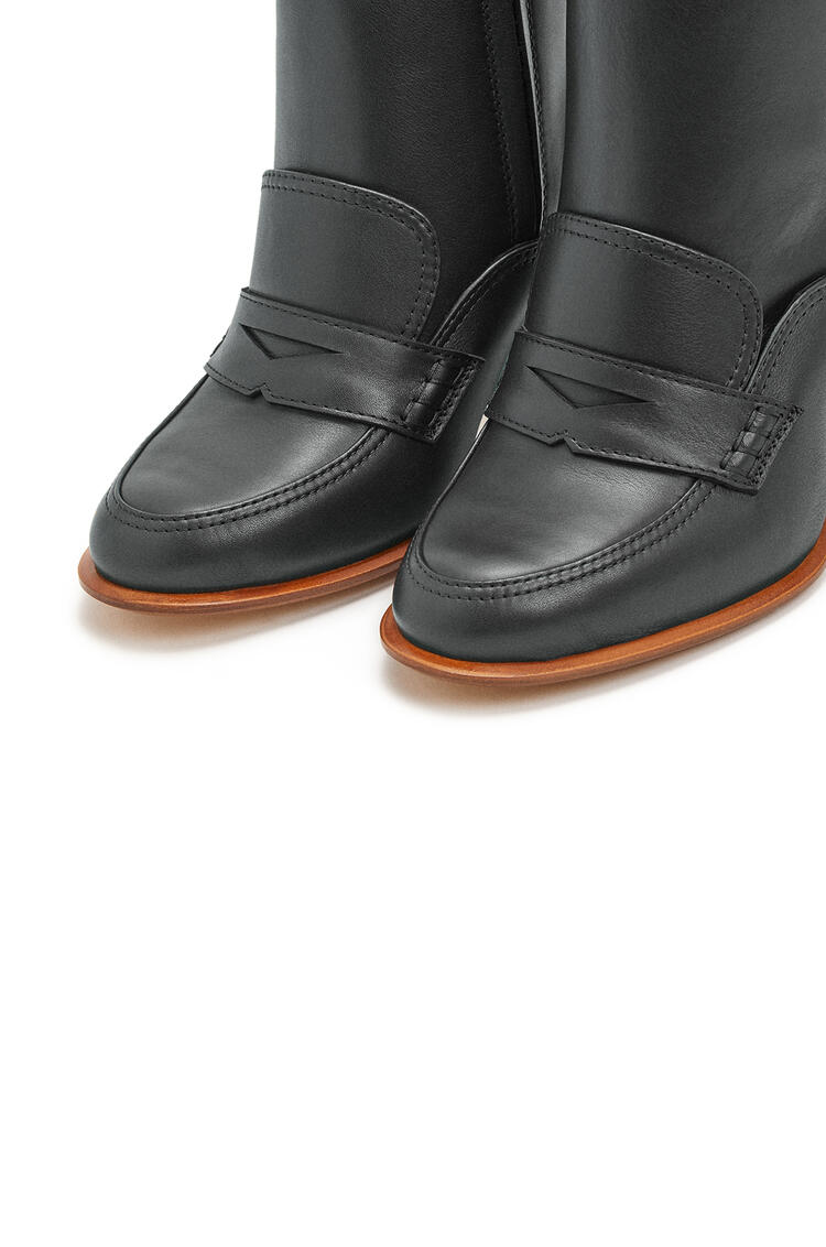 LOEWE Loafer boot in calfskin Black pdp_rd