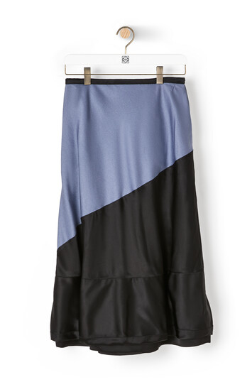 LOEWE Satin Skirt Grey/Black front