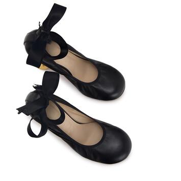 LOEWE Ballerina Pump 90 Negro front